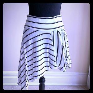 Black and White Hi/Low Flirt Skirt
